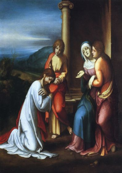 Correggio, Antonio Allegri: Christ Taking Leave of his Mother. Fine Art Print/Poster. Sizes: A4/A3/A2/A1 (001790)
